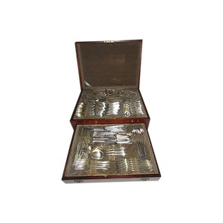 1900s Sterling Silver Flatware Set of 92 Pieces For Sale