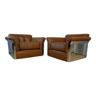 1960s Vintage Saporiti Vittorio Introini Larissa Chairs- a Pair For Sale