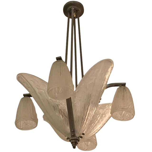 Donna Paris French Art Deco Chandelier For Sale