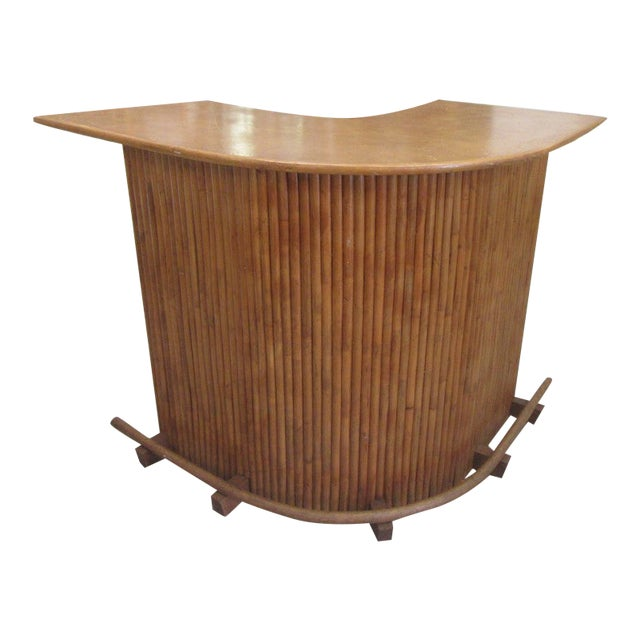 1970s Island Style Bamboo Bar For Sale