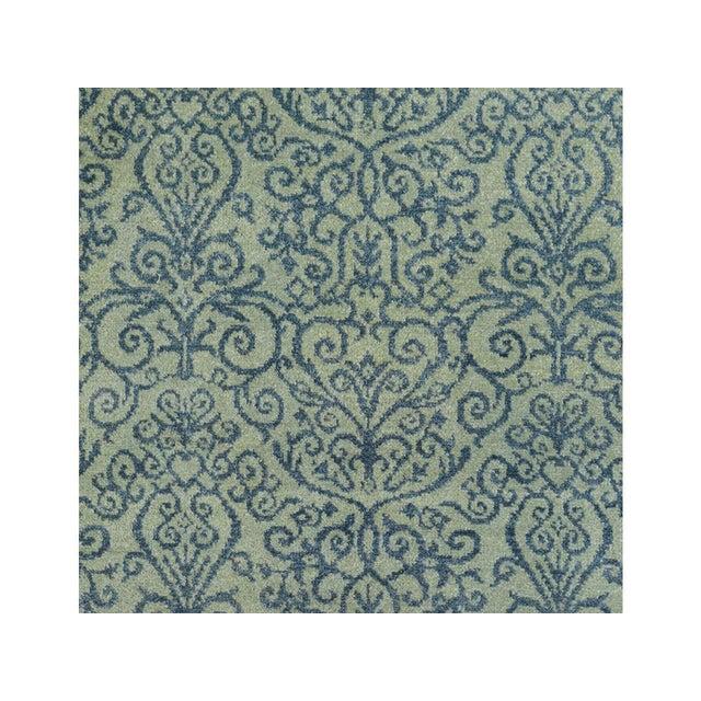 Kafkaz Peshawar Cyrena Lt. Green/Blue Wool Rug - 4' X 6' For Sale - Image 4 of 8