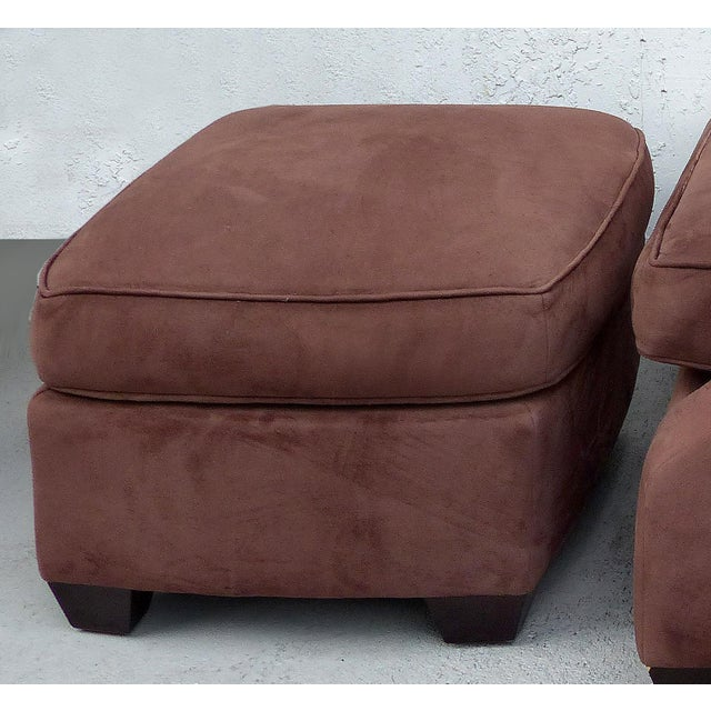 Super Over Scale Club Chairs And Ottomans By Donghia A Pair Cjindustries Chair Design For Home Cjindustriesco
