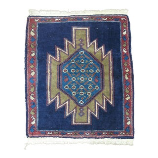 Vintage Navy Persian Malayer Square Rug, 2'2'' x 2'6''