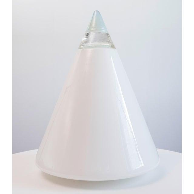 Toso Final Markdown Murano Opaline Vetri Mid-Century Geometric Rio Lamp by Giusto Toso For Sale - Image 4 of 4