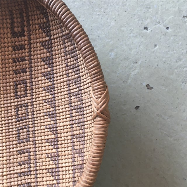 Woven Tribal Wall Basket - Image 4 of 5