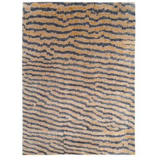 Contemporary Silk Area Rug, Fishskin 9'x12' For Sale