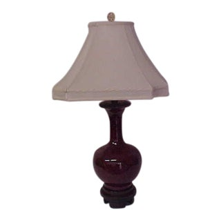 Frederick Cooper Oxblood Lamp For Sale