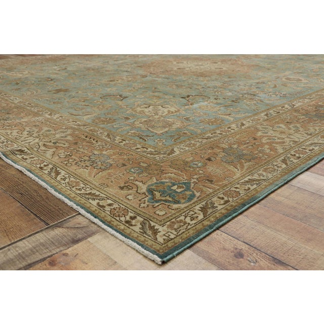 Vintage Tabriz Rug With Gustavian Style - 09'09 X 12'07 For Sale In Dallas - Image 6 of 10