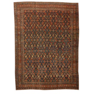 Antique Oversize 19th Century Persian Senna Carpet For Sale