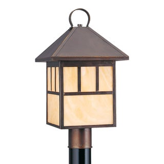 Ophelia One Light Outdoor Post Lantern, Bronze For Sale
