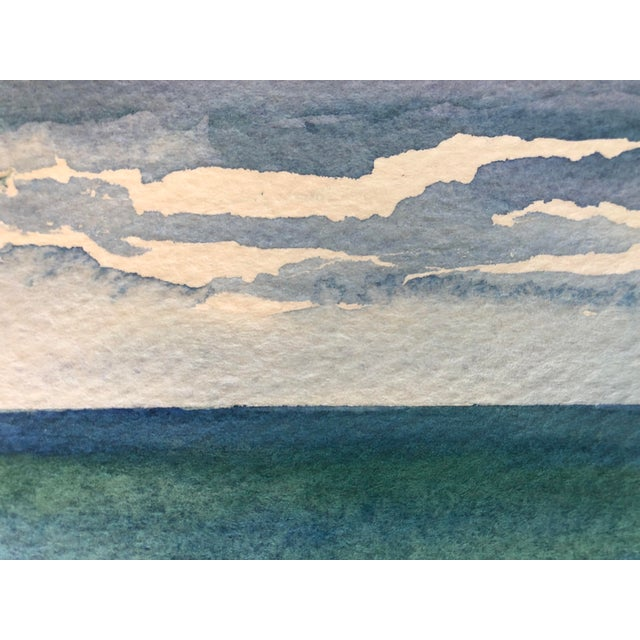"""Final Price! Contemporary Watercolor """"Catch a Wave"""" by Nancy Smith For Sale - Image 4 of 6"""