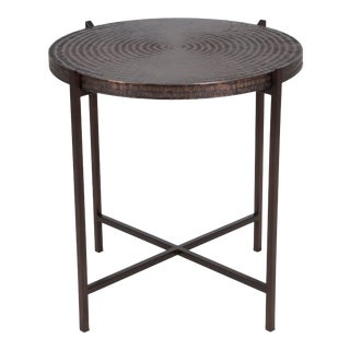 Penelope End Table in Copper For Sale