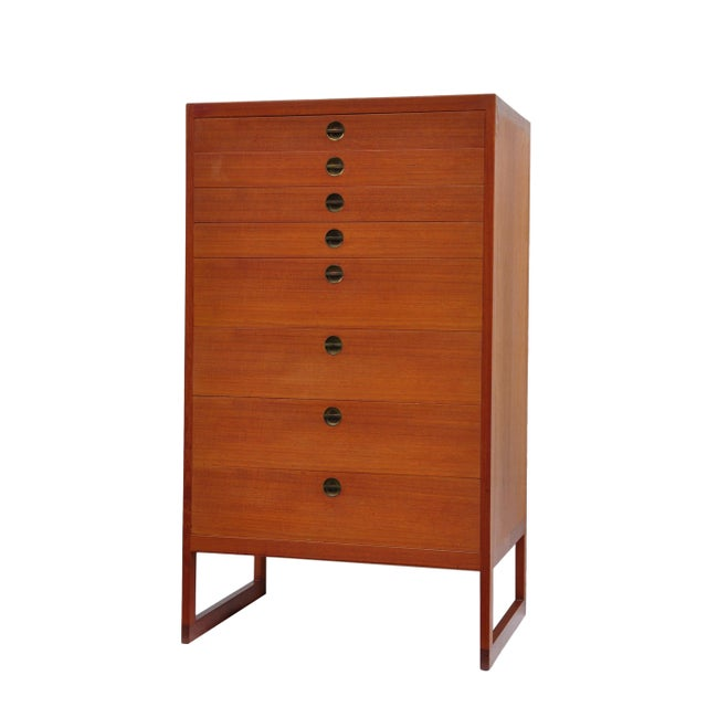 1960s High Chest of Drawers by Børge Mogensen, Denmark, 1964 For Sale - Image 5 of 5