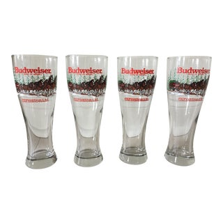 Budweiser Clydesdales Holiday Glasses - Set of 4 For Sale