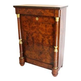 Antique 19th Century Mahogany Empire Secretaire a Abattant Desk For Sale