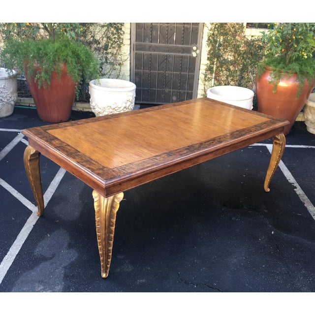 Wood Spectacular Carved French Dining Table W Palm Leaf Leg by Randy Esada Designs For Sale - Image 7 of 7