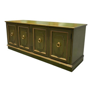 Vintage Regency Widdicomb Green Small Cabinet For Sale