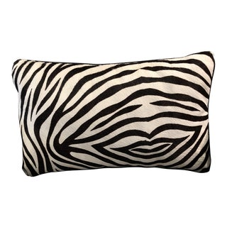 Williams-Sonoma Zebra Leather Pillow For Sale