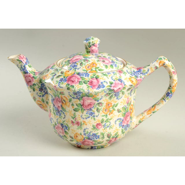 James Kent Rosalynde Chintz 4 Cup Teapot & Lid For Sale - Image 10 of 10