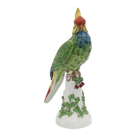 19th Century Antique French Paris Porcelain Parrot For Sale
