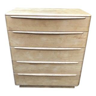 1950s Vintage Mid Century Modern Heywood Wakefield Highboy Dresser For Sale