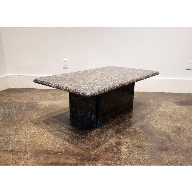 1980s Rectangular Italian Granite Coffee Table For Sale - Image 4 of 10