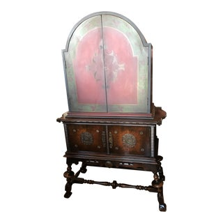 Arch Top Display Cabinet For Sale