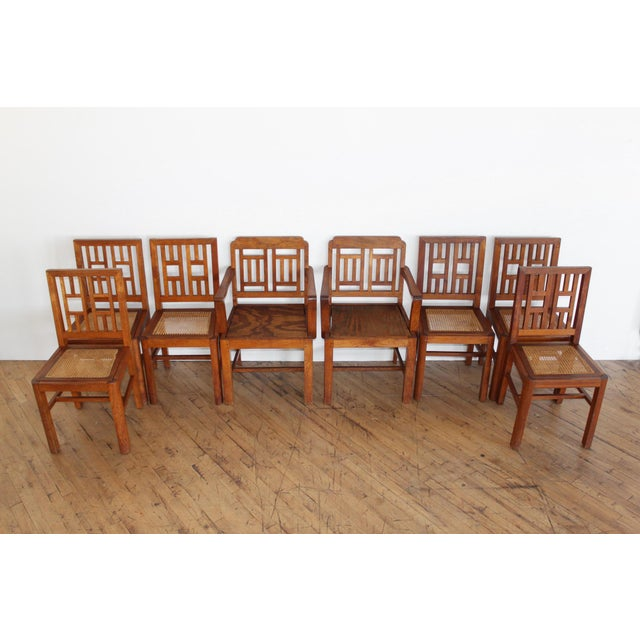 Antique Arts & Crafts Chairs- Hand Caned Craftsman Oak - Image 2 of 11