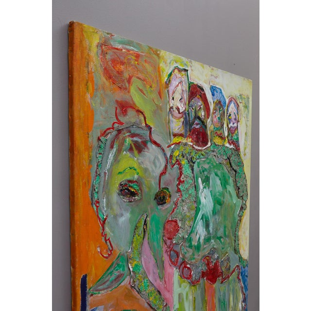 Abstract Expressionism Wyona Diskin, Elephant Painting For Sale - Image 3 of 12
