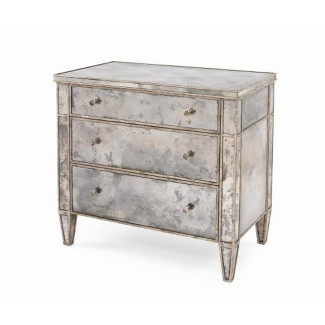 Glass Century Furniture Modern Mirror Bedside Chest of Drawers For Sale - Image 7 of 7