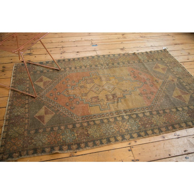 "Vintage Distressed Oushak Rug - 4'1"" x 6'7"" - Image 4 of 11"