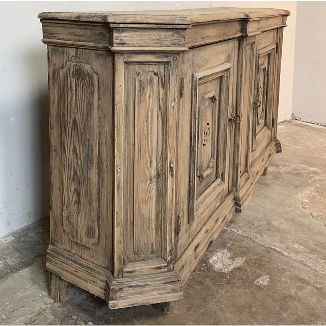 18th Century Stripped Pine Dutch Low Buffet For Sale - Image 11 of 12