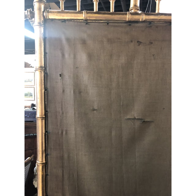 Gold Bamboo Fire Screen For Sale - Image 10 of 11