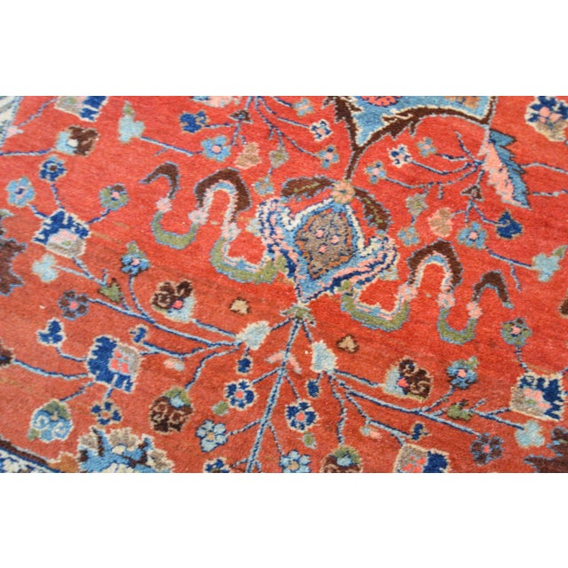 "Vintage Persian Lilihan Rug - 4' x 5'11"" For Sale - Image 6 of 11"