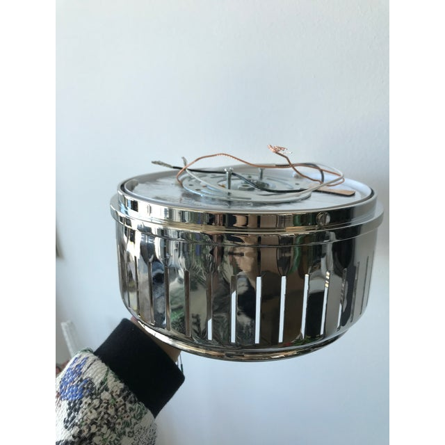 Modern Visual Comfort Polished Nickel With White Glass Eden Flush Mount- Sold Individually For Sale - Image 3 of 7
