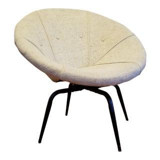 Vintage Mid-Century Lusch Erzeugnis Style Swivel Saucer Chair For Sale