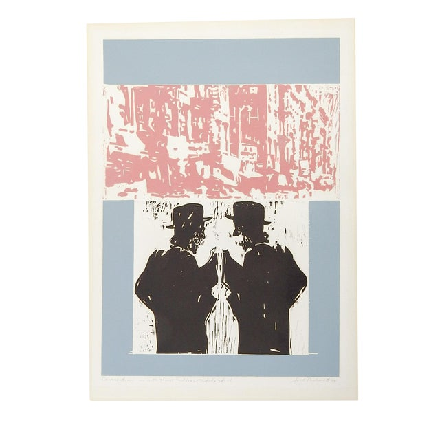 "Jack Perlmutter ""Conversation"" Serigraph For Sale"