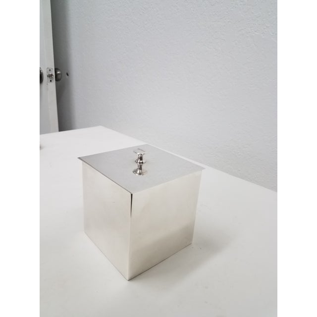 Silver Carluccio Vintage Silverplate Box For Sale - Image 8 of 9