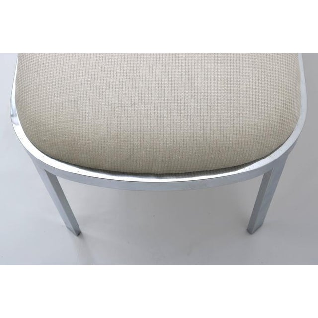 D.I.A. Polished Chrome and Cream Upholstery Race-Track Form Bench For Sale In West Palm - Image 6 of 7
