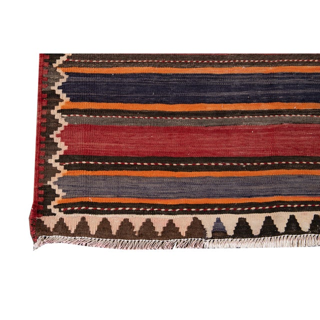 "Mid-20th Century Vintage Kilim Runner Rug 5' 2"" X 10' 10''. For Sale - Image 10 of 13"