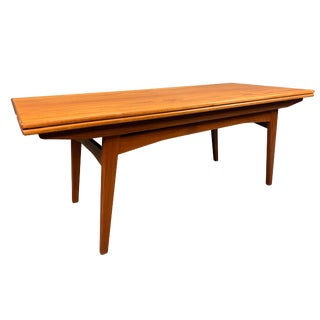 Vintage Danish Modern Teak Elevator Coffee-Dining Table For Sale