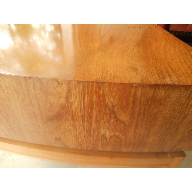 Mod Floating Butcher Block Table For Sale - Image 7 of 9