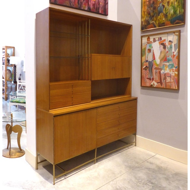 Offered for sale is a rare mid-century modern breakfront by the iconic American designer Paul McCobb for Calvin Furniture....