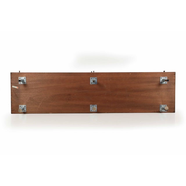 Florence Knoll Walnut and White Laminate Sideboard Credenza, Signed - Image 10 of 11
