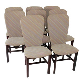 Dutch Rosewood Mid-Century Modern Dining Chairs - Set of 8 For Sale