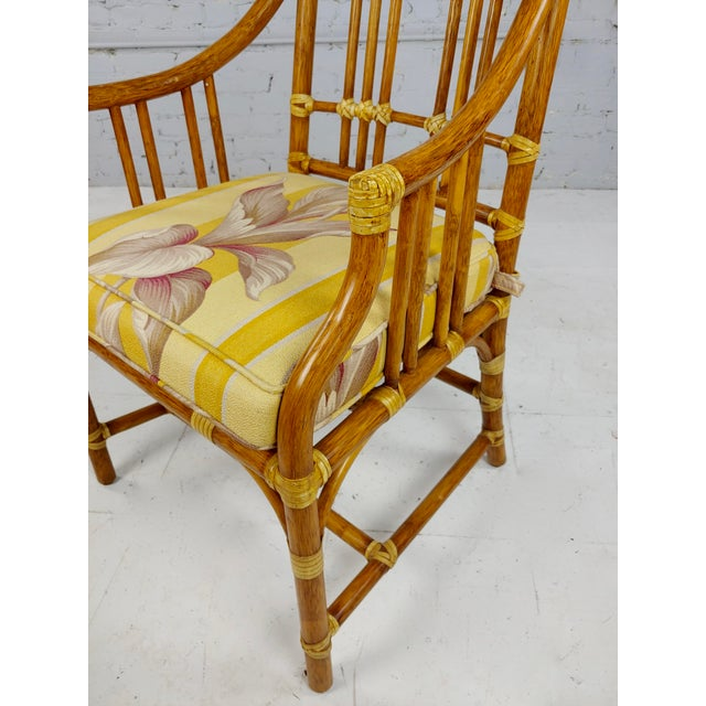 1970s Vintage McGuire Rattan Dining Chairs - Set of 4 For Sale - Image 5 of 11