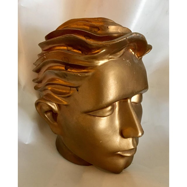 1960s Vintage Fiberglass Man Mannequin Head For Sale - Image 5 of 13