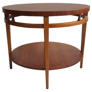 Modernist Walnut and Rosewood Lamp Table 'Tuxedo' by Lane For Sale