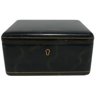 European Modern Leather Jewelry Box For Sale