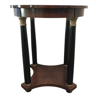 Empire Style Round Side Table For Sale